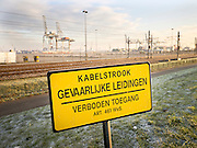 Container terminal in Europoort, Rotterdam