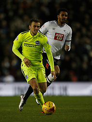 James Wilson of Brighton & Hove Albion - Mandatory byline: Jack Phillips / JMP - 07966386802 - 12/12/2015 - FOOTBALL - The iPro Stadium - Derby, Derbyshire - Derby County v Brighton & Hove Albion - Sky Bet Championship
