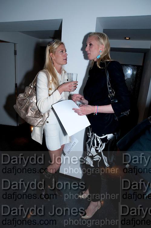 AMARYLLIS FRASER; NATASHA BULSTRODE, HELMUT NEWTON EXHIBITION, Hamiltons,  London. 12 May 2009