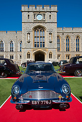 © London News Pictures. 07/09/2012. Windsor, UK . The 1969 Aston Martin DB6 Voltane, driven by Prince William and The Duchess of CAmbridge after their wedding, one of 60 of the rarest motorcars from around the world at Windsor Castle in Berkshire for the WIndsor Castle Concours Of Elegance on September 07, 2012. The three day event is open to the public on Saturday and Sunday. Photo credit: Ben Cawthra/LNP