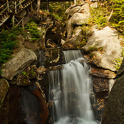 Paradise Falls in Lost River Gorge in New Hampshire's White Mountains. North Woodstock.