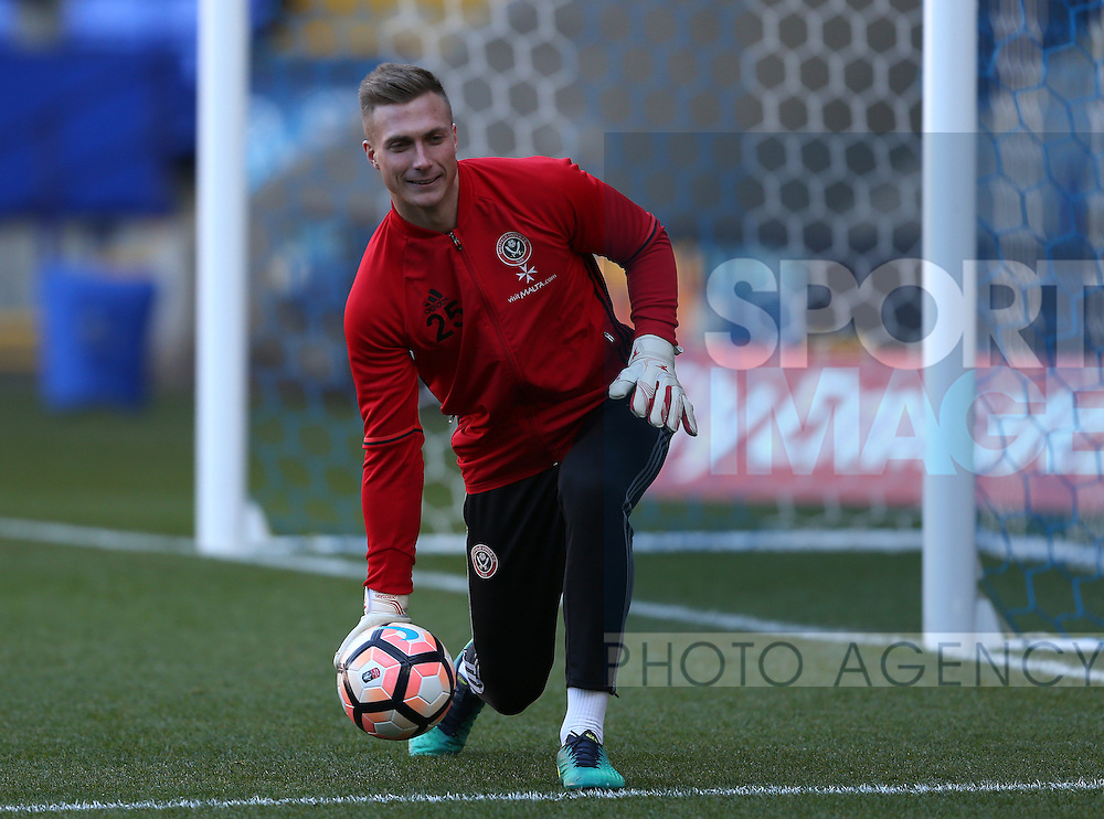 Simon Moore of Sheffield Utd during the FA Cup Second round match at the Macron Stadium, Bolton. Picture date: December 4th, 2016. Pic Simon Bellis/Sportimage