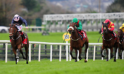 Laughifyouwant and jockey Colin Keane win the Corrib Food Products Maiden during day three of the October Festival at Galway Racecourse.