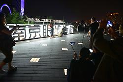 May 24, 2017 - Nanjin, Nanjin, China - Nanjing, CHINA-May 24 2017: (EDITORIAL USE ONLY. CHINA OUT) ..Thousands of citizens enjoy lighting show in Nanjing, east China's Jiangsu Province, May 24th, 2017. (Credit Image: © SIPA Asia via ZUMA Wire)