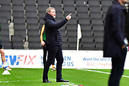 Hull City manager Grant McCann during the EFL Sky Bet League 1 match between Milton Keynes Dons and Hull City at stadium:mk, Milton Keynes, England on 21 November 2020.