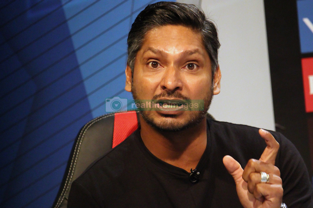 March 22, 2019 - Mumbai, India - Former Sri Lanka cricketer Kumar Sangakkara reacts while addressesing the media in a press conference in Mumbai, India on 22 March 2019. As the official broadcaster, Star Sports has unveiled 'Select Dugout' for the upcoming VIVO IPL 2019  (Credit Image: © Himanshu Bhatt/NurPhoto via ZUMA Press)