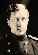 Albert I (1875-1934) King of the Belgians 1909-1934, head and shoulders portrait in military uniform. He resisted German demands in 1914 and fought with Belgian army when Belgium was invaded.