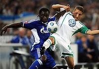 v.l. Gerald Asamoah , Fabian Johnson Wolfsburg<br />  <br /> Bundesliga FC Schalke 04 - VfL Wolfsburg<br /> <br /> Norway only