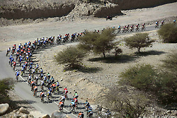 February 15, 2018 - Muscat, Oman - illustration of peloton during stage 3 of the 9th edition of the 2018 Tour of Oman cycling race, a stage of 179.5 kms between German University of Technology and Wadi Dayqah Dam on February 15, 2018 in Muscat, Sultanate of Oman, (Credit Image: © Panoramic via ZUMA Press)