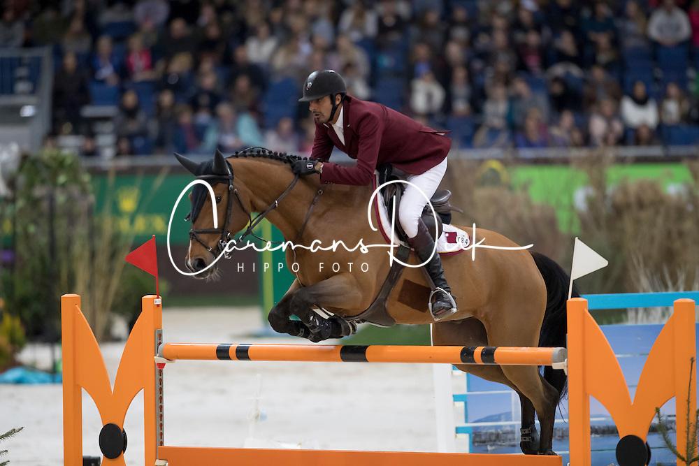 Sheikh Ali Al Thani Bin Khalid, (QAT), First Devision<br /> Credit Suisse Grand Prix<br /> CHI de Genève 2016<br /> © Hippo Foto - Dirk Caremans<br /> 08/12/2016