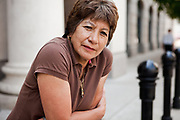 """BIRMINGHAM, AL –SEPTEMBER 16, 2012: Matilde Vasquez, 58, stands in front of the Nashville Public Library. Vasquez has lived in San Francisco for seven years after coming to the United States from Peru. """"I came to the U.S. to get a better future for me and for my son,"""" she said."""