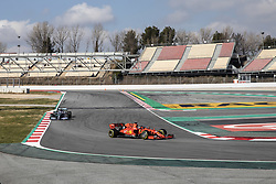 February 18, 2019 - Barcelona, Barcelona, Spain - Sebastian Vettel from Germany with 05 Scuderia Ferrari Mission Winnow SF90 in action in front of Valtteri Bottas fo Finland with 77 of Mercedes AMG Petronas Motorsport W10 in action during the Formula 1 2019 Pre-Season Tests at Circuit de Barcelona - Catalunya in Montmelo, Spain on February 18. (Credit Image: © Xavier Bonilla/NurPhoto via ZUMA Press)