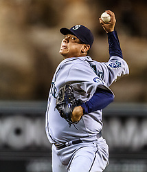 ANAHEIM, California/USA (Wednesday, September 26, 2012) - Felix Hernandez pitcher of the Seattle Mariners during the Mariners vs. Angels game held at the Angels  Stadium. Byline and/or web usage link must read PHOTO © Eduardo E. Silva/SILVEX.PHOTOSHELTER.COM.