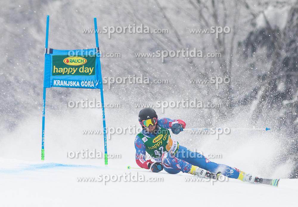 Andreas Zampa of Slovakia during 1st run of Men's Giant Slalom race of FIS Alpine Ski World Cup 57th Vitranc Cup 2018, on 3.3.2018 in Podkoren, Kranjska gora, Slovenia. Photo by Urban Meglič / Sportida