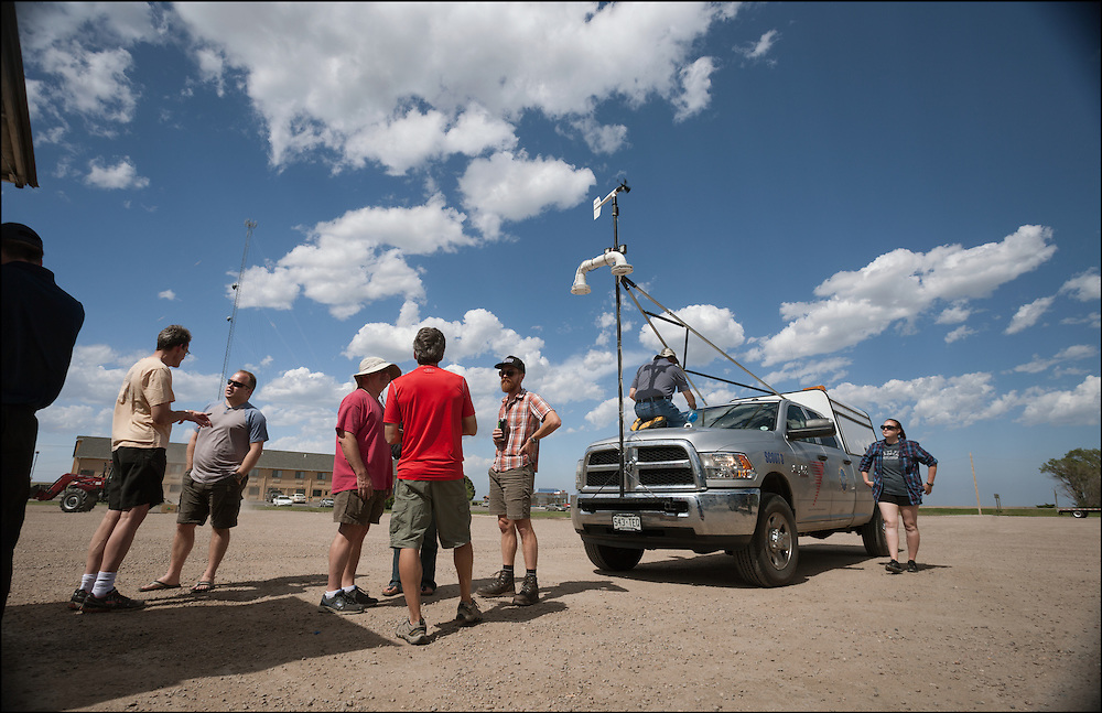 Josh Wurman with the Center for Severe Weather Research and his TWIRL team discussing the current weather conditions.