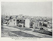 """VIEW OF RICHMOND, VA., IMMEDIATELY AFTER THE SURRENDER, IN 1865. Large Building in Upper Centre of Picture was the Confederate Capitol. from The American Civil War book and Grant album : """"art immortelles"""" : a portfolio of half-tone reproductions from rare and costly photographs designed to perpetuate the memory of General Ulysses S. Grant, depicting scenes and incidents in connection with the Civil War Published  in Boston and New York by W. H. Allen in 1894"""