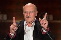 27 MAR 2012, BERLIN/GERMANY:<br /> Volker Schloendorff, Regisseur und Drehbuchautor, haelt eine Rede, Verleihung Best of European Award, Deutsches Historisches Museum<br /> IMAGE: 20120327-01-068<br /> KEYWORDS: Volker Schlöndorff