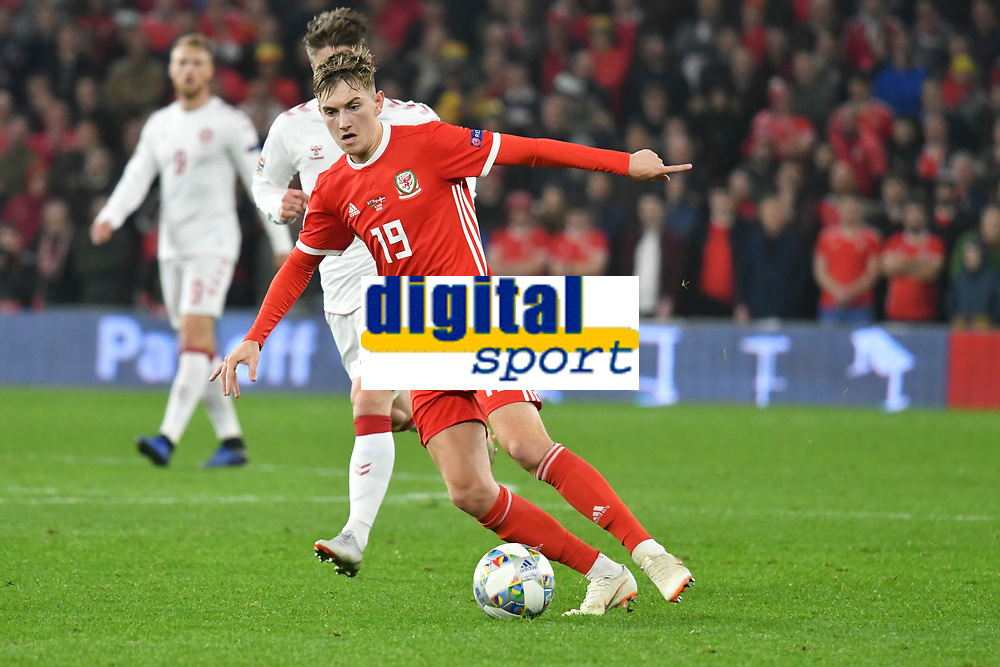 Football - 2018 / 2019 UEFA Nations League B - Group Four: Wales vs. Denmark<br /> <br /> David Brooks of Wales attacks, at Cardiff City Stadium.<br /> <br /> COLORSPORT/WINSTON BYNORTH