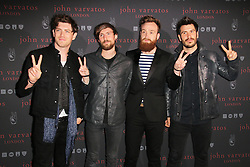 © Licensed to London News Pictures. 03/09/2014, UK. Sam McTrusty; Craig Kneale; Ross McNae; Barry McKenna; Twin Atlantic,, John Varvatos - Flagship European London store launch party, Conduit Street, London UK, 03 September 2014. Photo credit : Richard Goldschmidt/Piqtured/LNP