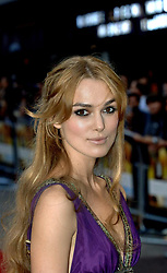 Star of the film Keira Knightley arrives for the UK premiere of Pride & Prejudice at the Odeon Leicester Square in central London.