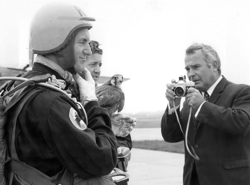 British photographer Terry Fincher seen on assignment during the 1960's.