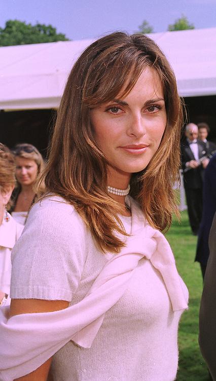 MISS TASHA DE VASCONCELOS MOTA E CUNHA a friend of Prince Albert of Monaco, at a reception in Paris on 6th September 1998.MJR 33