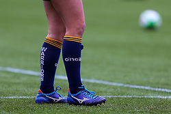 Both teams wear blue laces, in support of Jess Pardo Alvarez, a Worcester Warriors Women?s Centre of Excellence player recently diagnosed with terminal brain cancer.  - Mandatory by-line: Nick Browning/JMP - 24/10/2020 - RUGBY - Sixways Stadium - Worcester, England - Worcester Warriors Women v Wasps FC Ladies - Allianz Premier 15s