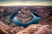 An HDR image of Horseshoe Bend outisde Page, Arizona.