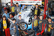 """The James B. Dudley High School Advanced Vehicle Technologies or """"AVT"""" Team in their shop located on the Dudley High campus, March 5, 2016, in Greensboro, N.C. The unique program prepares students to take part in the Shell Eco-marathon, a competition where student teams from around the world design, build, test and drive ultra-energy-efficient vehicles. The team, lead by program founder and Dudley teacher Rick Lewis, prides themselves on hard work, overcoming challenges, and for creatively building vehicles out of re-used and re-purposed parts."""
