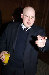 Comedian MATT LUCAS at a dinner hosted by footballer Patrick Vieira and the Diambars UK Charital Trust at The Landmark Hotel, 222 Marylebone Road, London NW1 on 3rd February 2005.<br /><br />NON EXCLUSIVE - WORLD RIGHTS