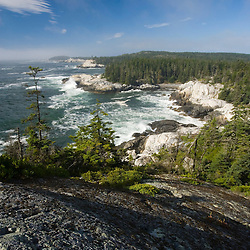 The Isle Au Haut coastline as seen from the Goat Trail above Squeaker Cove.  Acadia National Park, Maine.