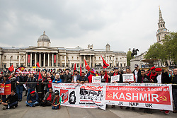 London, UK. 1st May, 2019. Representatives of trade unions and socialist and communist parties from many different countries attend the annual May Day rally in Trafalgar Square to mark International Workers' Day.