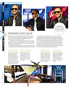 Concept and photos of Inder Bedi (founder of Mat and Nat handbags) taken onsite at the Wunderbar (W Hotel, Montreal) for West Jet's Up! magazine