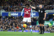 Carlos Sanchez of Aston Villa in action. Barclays Premier League match, Everton v Aston Villa at Goodison Park in Liverpool on Saturday 21st November 2015.<br /> pic by Chris Stading, Andrew Orchard sports photography.