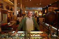 Jacques Carcanagues is closing his gallery in SoHo after 40 years. ..Photo by Robert Caplin..