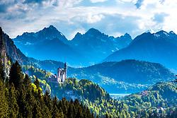 Neuschwanstein Castle. German Alps, Bavaria Germany