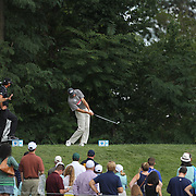 Jim Furyk tees off from the second hole during the fourth round of theThe Barclays Golf Tournament at The Ridgewood Country Club, Paramus, New Jersey, USA. 24th August 2014. Photo Tim Clayton