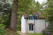 "Open to the public, an elegant cottage and former home of T. E. Lawrence, (""Lawrence of Arabia"") Clouds Hill, is located near Wool, Dorset, southwest England."