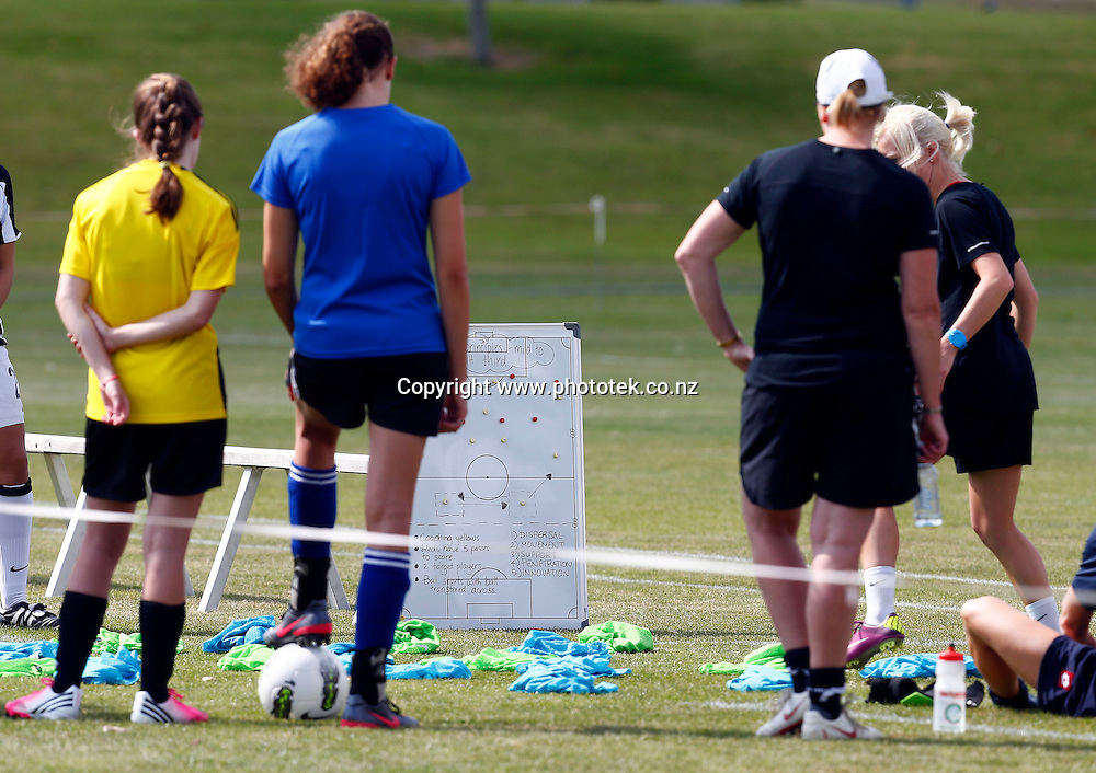 New Zealand Football Women's Coaching Course, North Harbour Stadium Albany, Saturday 19th January 2013. Photo: Shane Wenzlick