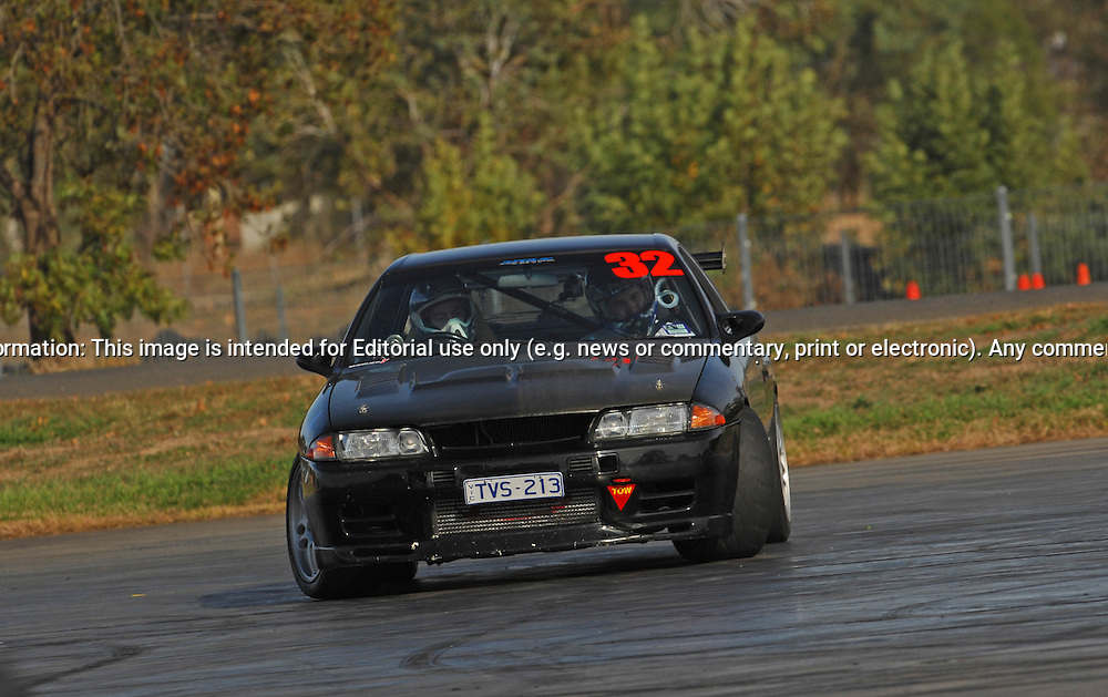 Russell Cunningham.Nissan Skyline GTST.SAU Deca Motorkhana sponsored by Micolour.Shepparton, Victoria .23rd of May 2009.(C) Joel Strickland Photographics.Use information: This image is intended for Editorial use only (e.g. news or commentary, print or electronic). Any commercial or promotional use requires additional clearance.