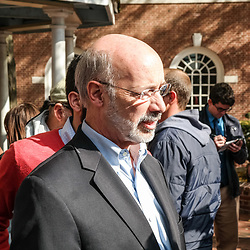 Lancaster, PA, USA - November 3, 2014: Democrat Candidate Tom Wolf makes a campaign stop the day before he was elected Governor of Pennsylvania.