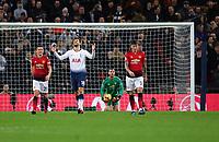Football - 2018 / 2019 Premier League - Tottenham Hotspur vs. Manchester United<br /> <br /> Tottenham Hotspur's Fernando Llorente dejected as Manchester United's David De Gea denies them again, at Wembley Stadium.<br /> <br /> COLORSPORT/ASHLEY WESTERN