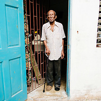 Mr. Hedley Jones at his home in Montego Bay, Jamaica