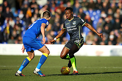 Marc Bola of Bristol Rovers take on George Francomb of AFC Wimbledon - Mandatory by-line: Robbie Stephenson/JMP - 17/02/2018 - FOOTBALL - Cherry Red Records Stadium - Kingston upon Thames, England - AFC Wimbledon v Bristol Rovers - Sky Bet League One