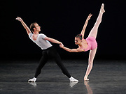 GASTON DE CARDENAS / EL NUEVO HERALD -- MIAMI, FL -- 1/28/2009 -- Jennifer Carlynn Kronenberg and Jeremy Cox principle dancers with The Miami City Ballet performs Symphony in Three Movement at the Arsht Center in Miami accompanied by the Cleveland Orcherstra.