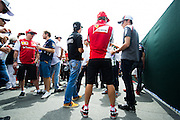 June 8, 2014: Canadian Grand Prix at Circuit Gilles Villeneuve. Driver's chat before the driver's parade in Montreal
