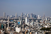 Tokyo seen from a high rise building looking at Shibuya and Shinjuku