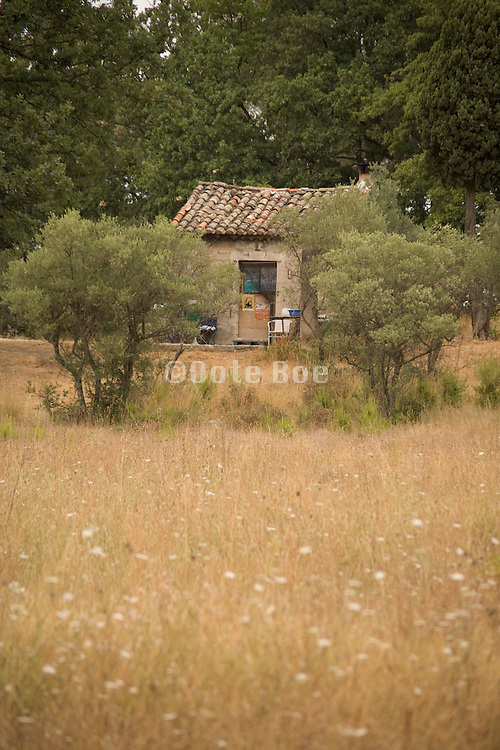 An isolated old little house in France Provence