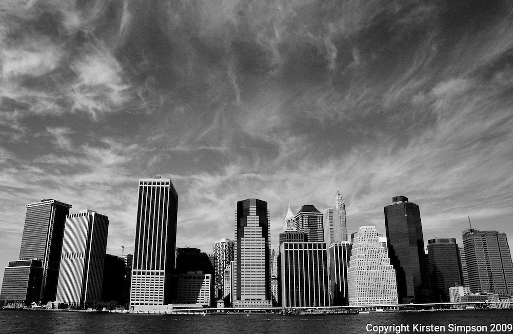 The Financial District from the East River