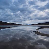 Lake Abiskojaure - Abeskojavri with overcast sky, Kungsleden trail, Lappland, Sweden